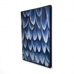 Framed 24 x 36 - 3D - Plumage blue