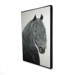 Framed 24 x 36 - 3D - Wild heart horse