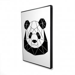 Framed 24 x 36 - 3D - Geometric panda