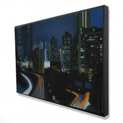 Framed 24 x 36 - 3D - Atlanta at night