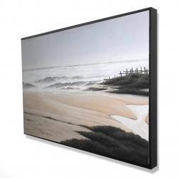 Framed 24 x 36 - 3D - Cloudy at the beach