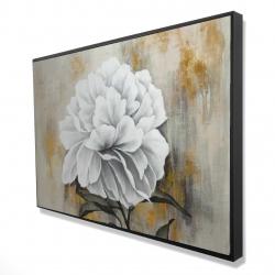 Framed 24 x 36 - 3D - White peony