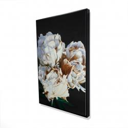 Framed 24 x 36 - 3D - Blooming peonies