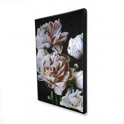 Framed 24 x 36 - 3D - Peonies