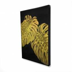 Framed 24 x 36 - 3D - Gold monstera