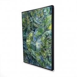 Encadré 24 x 36 - 3D - Succulents abstrait