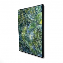 Framed 24 x 36 - 3D - Abstract succulents