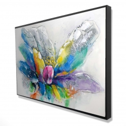 Framed 24 x 36 - 3D - Abstract flower with newspaper