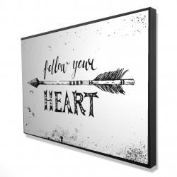 Framed 24 x 36 - 3D - Follow your heart