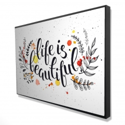 Framed 24 x 36 - 3D - Life is beautiful