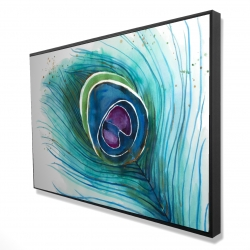 Framed 24 x 36 - 3D - Peacock feather closeup