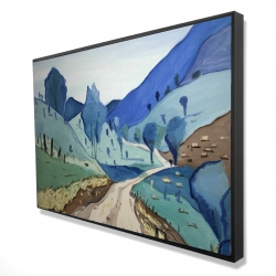 Framed 24 x 36 - 3D - Tuscany trail