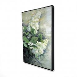 Framed 24 x 36 - 3D - White lilacs