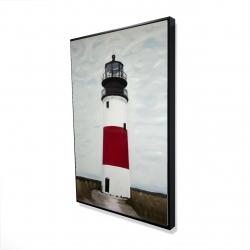 Framed 24 x 36 - 3D - Sankaty head lighthouse