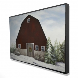 Framed 24 x 36 - 3D - It's winter on the farm