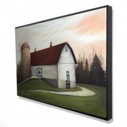 Framed 24 x 36 - 3D - White barn view