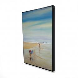 Framed 24 x 36 - 3D - Children at the beach