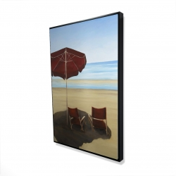 Framed 24 x 36 - 3D - Relax at the beach