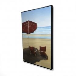 Framed 24 x 36 - 3D - Relax at the beach