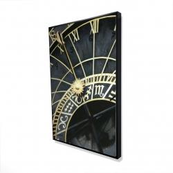 Framed 24 x 36 - 3D - Astrologic clock