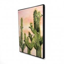 Encadré 24 x 36 - 3D - Cactus weberocereus
