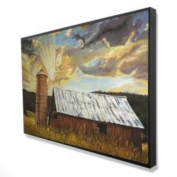 Framed 24 x 36 - 3D - Hay barn