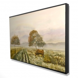 Framed 24 x 36 - 3D - Sweet morning in the countryside