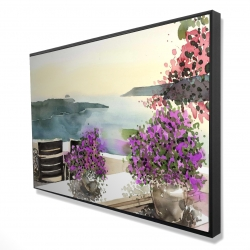 Framed 24 x 36 - 3D - Mediterranean sea view