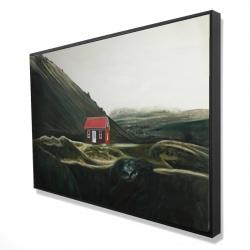 Framed 24 x 36 - 3D - Isolated shack