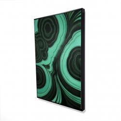 Framed 24 x 36 - 3D - Malachite stone