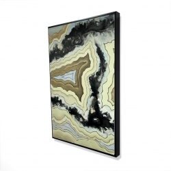 Framed 24 x 36 - 3D - Lace agate