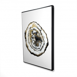 Framed 24 x 36 - 3D - Golden geode