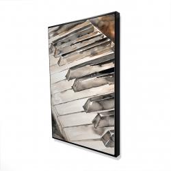 Framed 24 x 36 - 3D - Piano