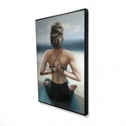Framed 24 x 36 - 3D - Reverse prayer pose