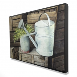 Framed 24 x 36 - 3D - Vintage watering can