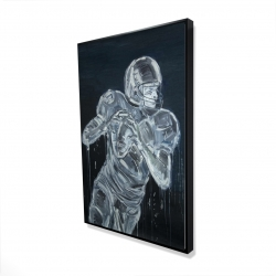 Framed 24 x 36 - 3D - Football player