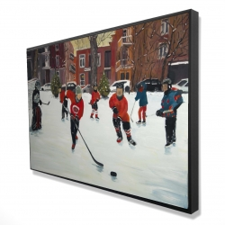 Framed 24 x 36 - 3D - Young hockey players