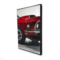 Framed 24 x 36 - 3D - Classic red car