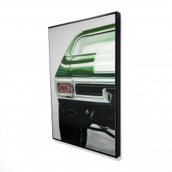 Framed 24 x 36 - 3D - Classic dark green car