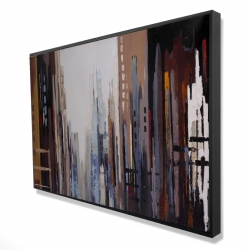 Framed 24 x 36 - 3D - Abstract buildings