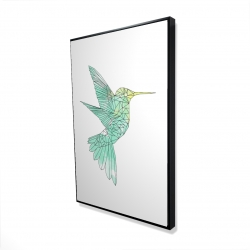 Framed 24 x 36 - 3D - Geometric hummingbird