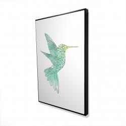 Framed 24 x 36 - 3D - Geometric hummingbird