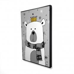 Framed 24 x 36 - 3D - Beautiful bear