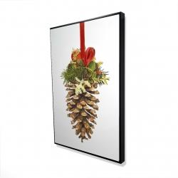 Framed 24 x 36 - 3D - Christmas pine cone