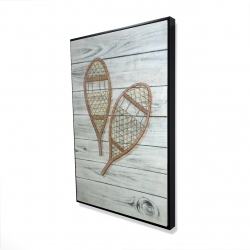 Framed 24 x 36 - 3D - Snowshoes