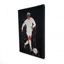 Framed 24 x 36 - 3D - Soccer player