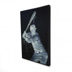 Framed 24 x 36 - 3D - Baseball player