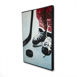 Framed 24 x 36 - 3D - Young hockey player