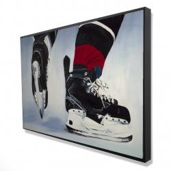Framed 24 x 36 - 3D - Hockey player