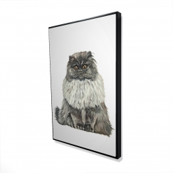 Framed 24 x 36 - 3D - Blue gray persian cat